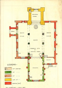 Floor plan showing centuries of construction